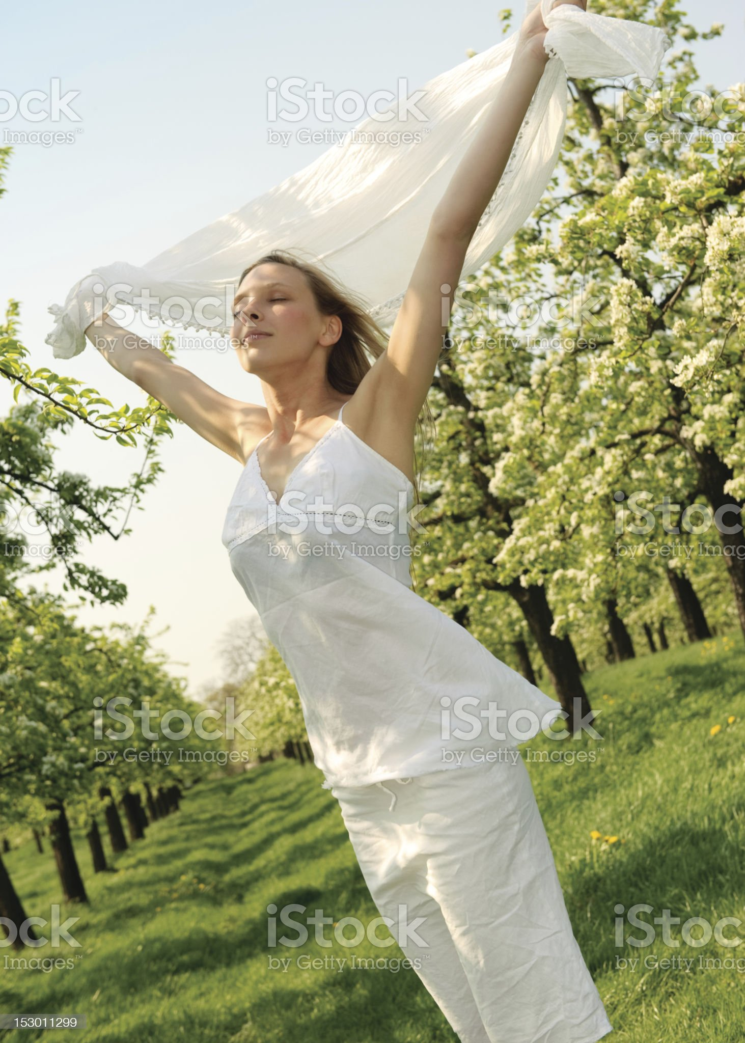 Flying woman royalty-free stock photo
