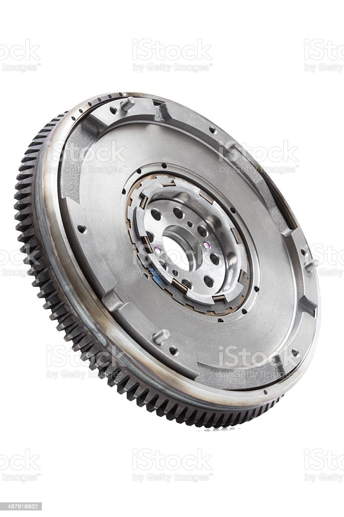 flywheel damper for automotive diesel engine on a white background stock photo