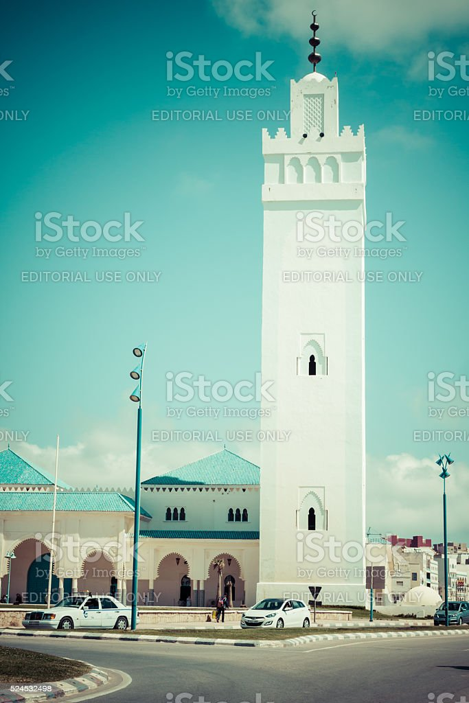 Fnideq-Morocco-May  5,2013:Mezquita de Fnideq, Morocco, Africa stock photo