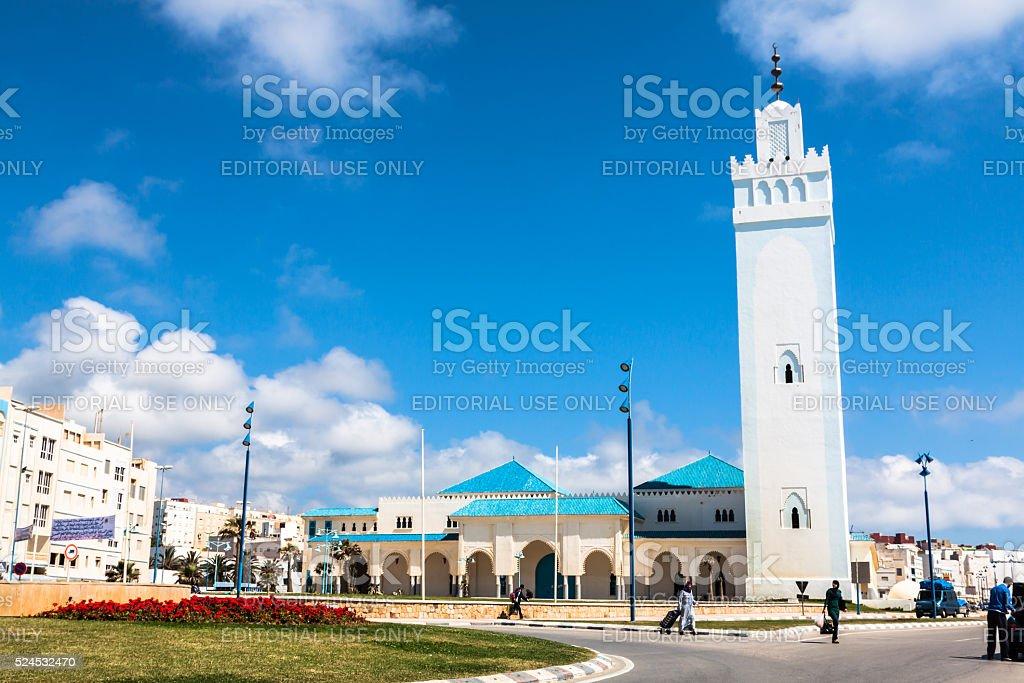 Fnideq-Morocco-May 5,2013:Mezquita de Fnideq, stock photo