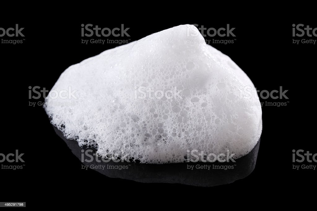 Foam background in black stock photo