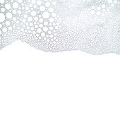 Foam bubbles abstract white background