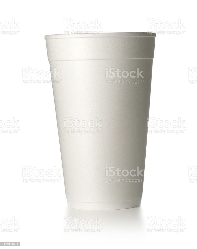 foam cup stock photo