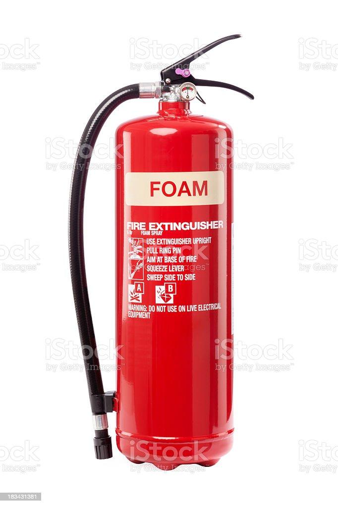 Foam fire extinguisher royalty-free stock photo