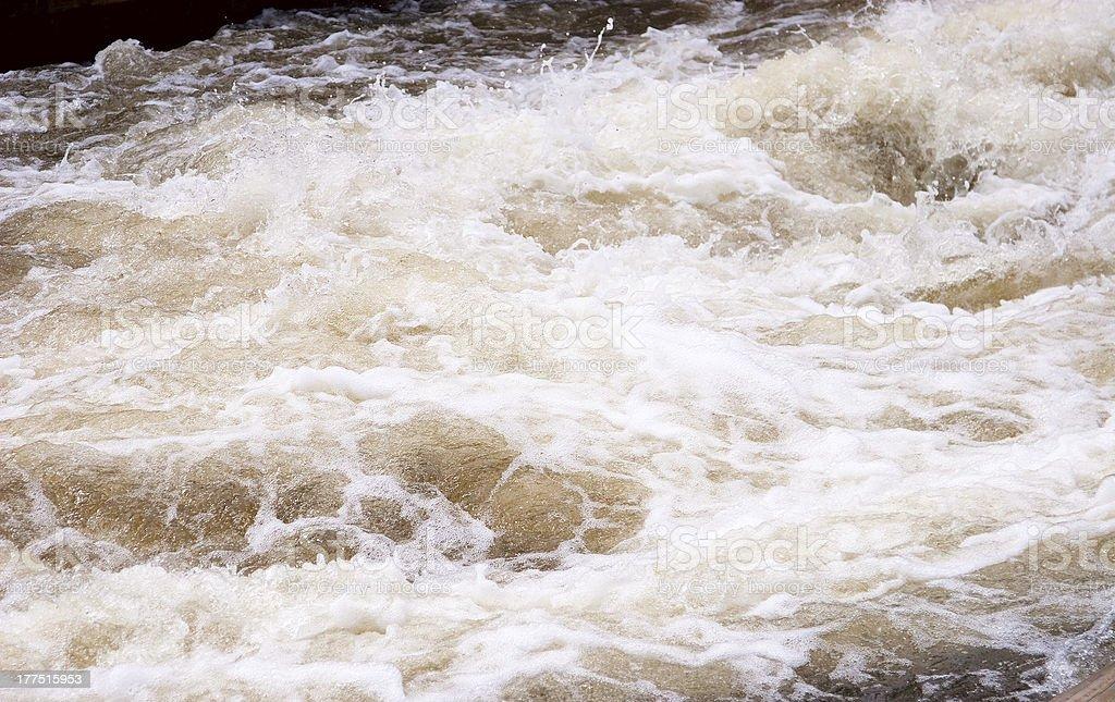 foam in river royalty-free stock photo