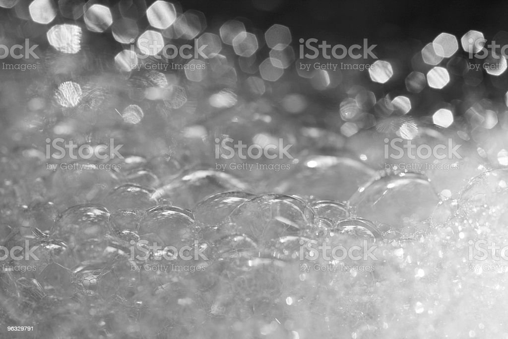 Foam in the sink royalty-free stock photo