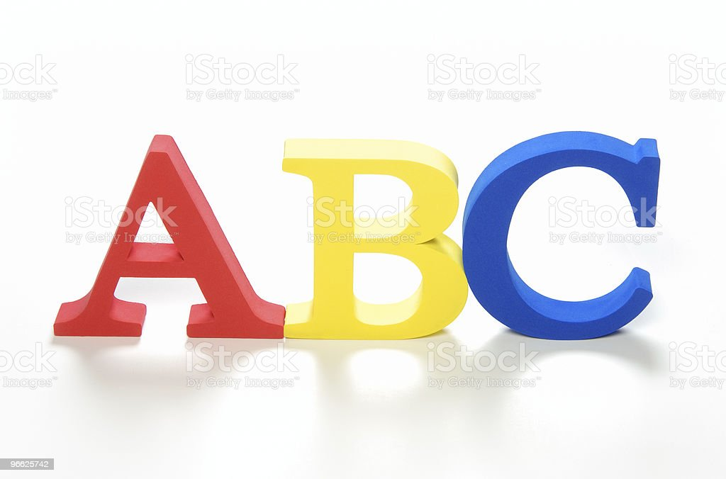 ABC foam letters royalty-free stock photo