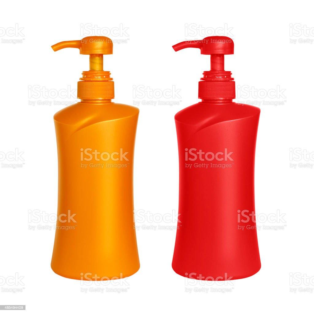 Foam Or Liquid Soap Dispenser Pump Plastic pin stock photo