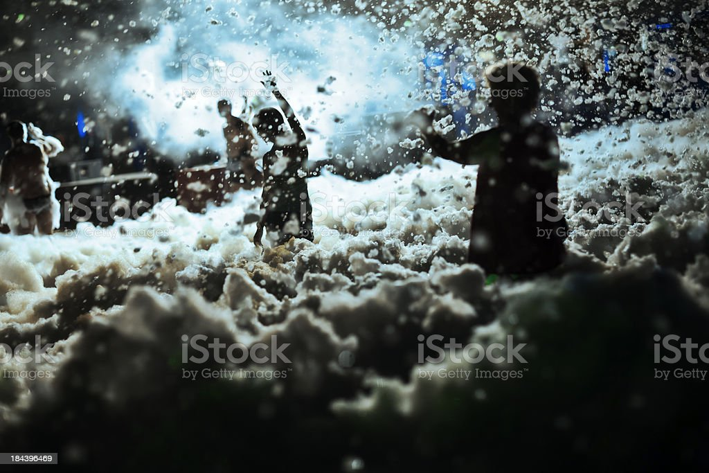 Foam Pool Party royalty-free stock photo