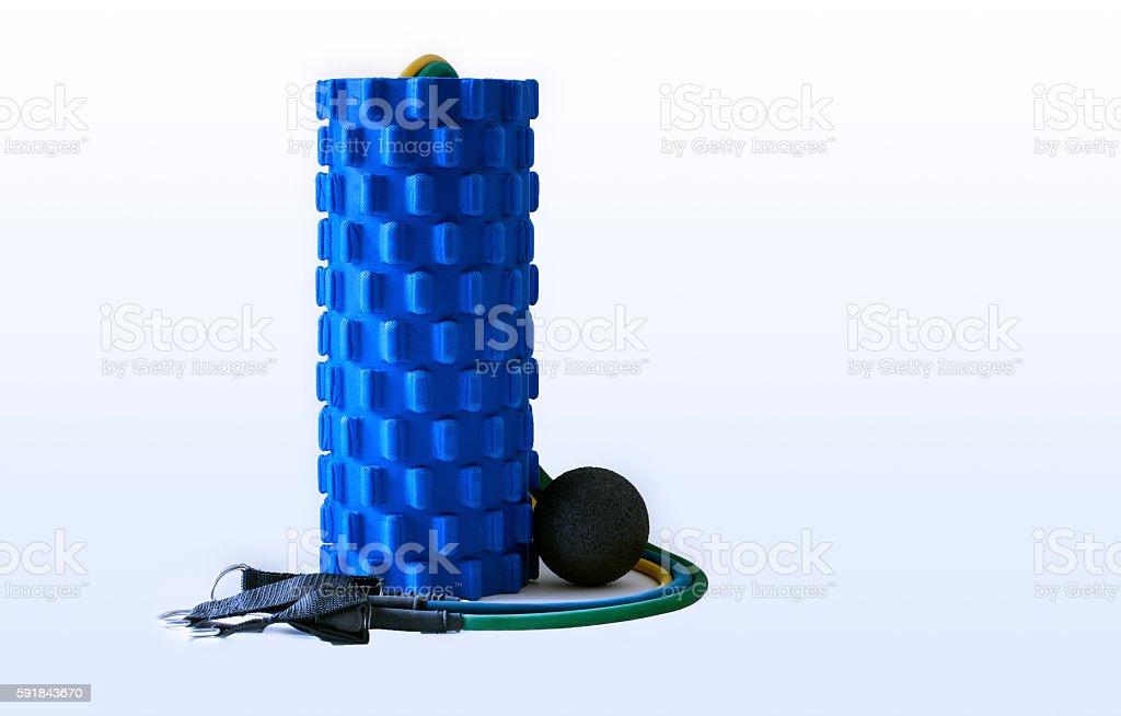 Foam Roller Massage Ball Fitness Resistance Bands Equipment for...