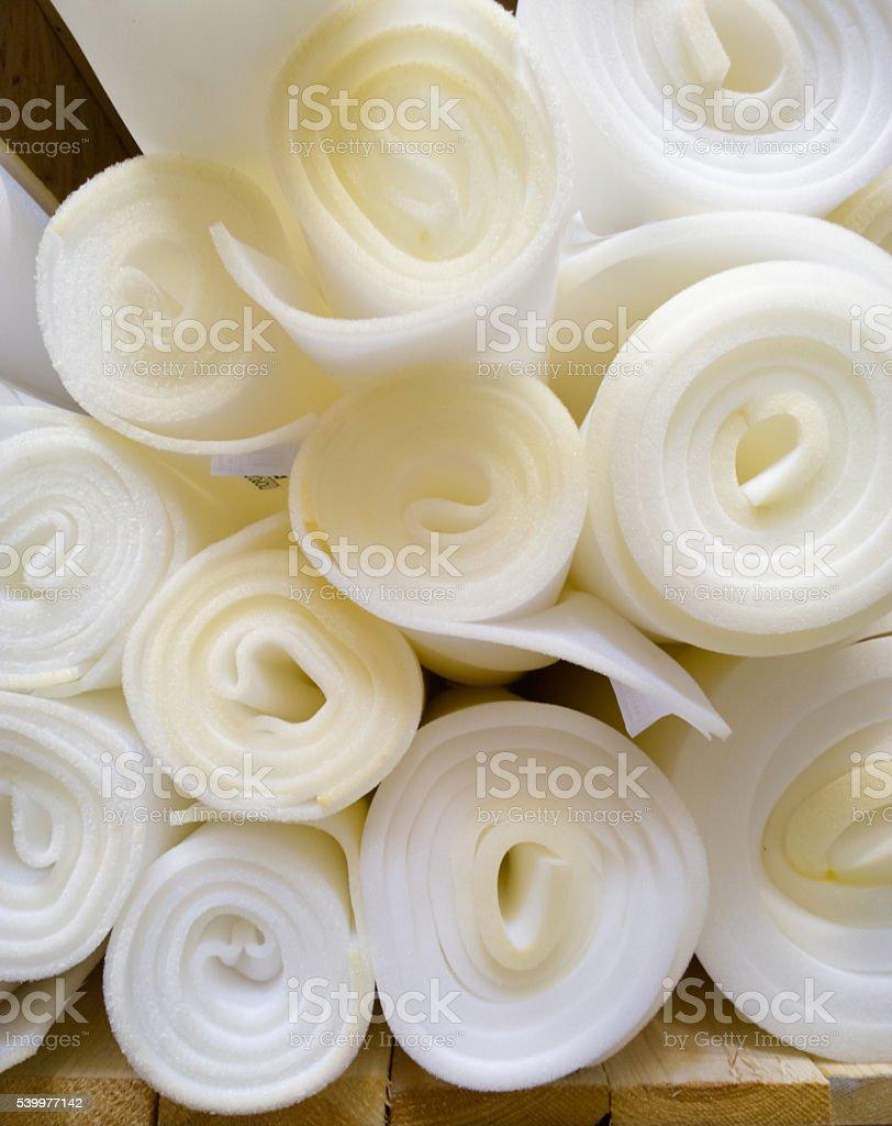 Foam rubber in the store. stock photo