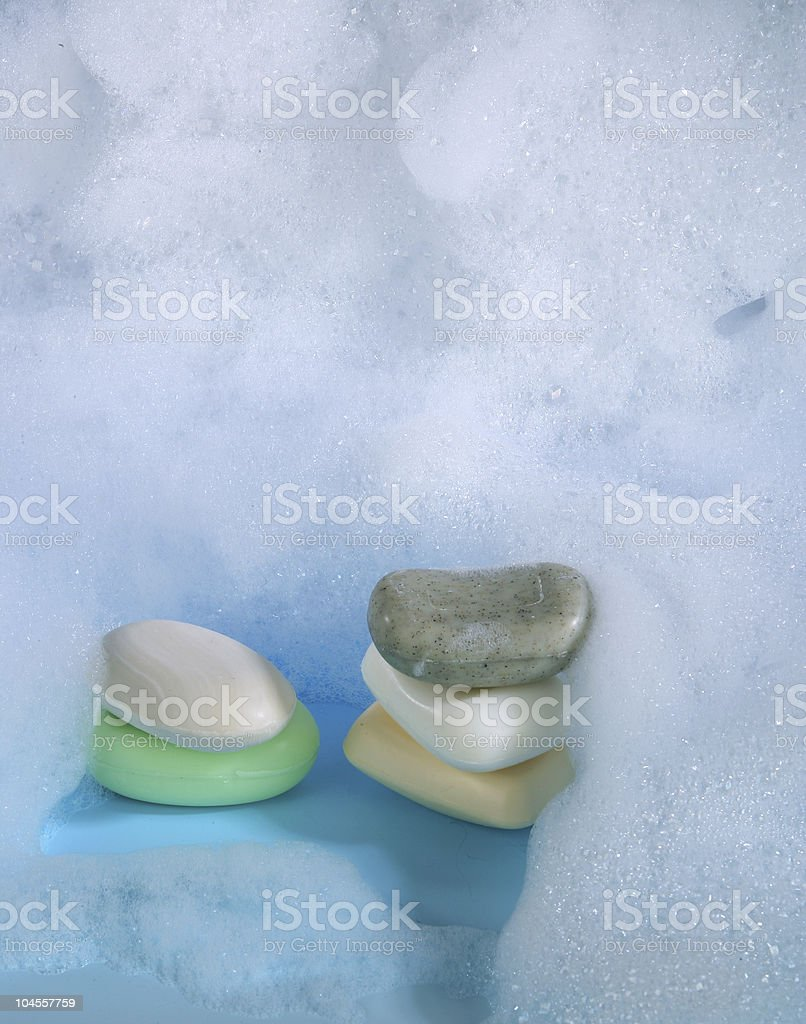 Foam soap stock photo