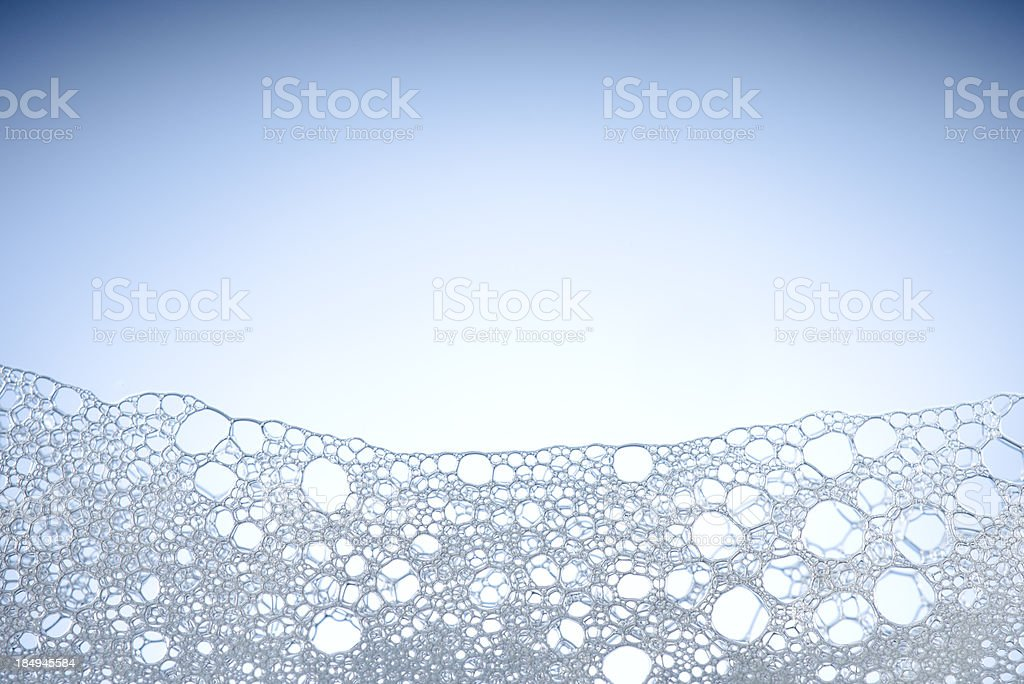 Foam with copy space stock photo