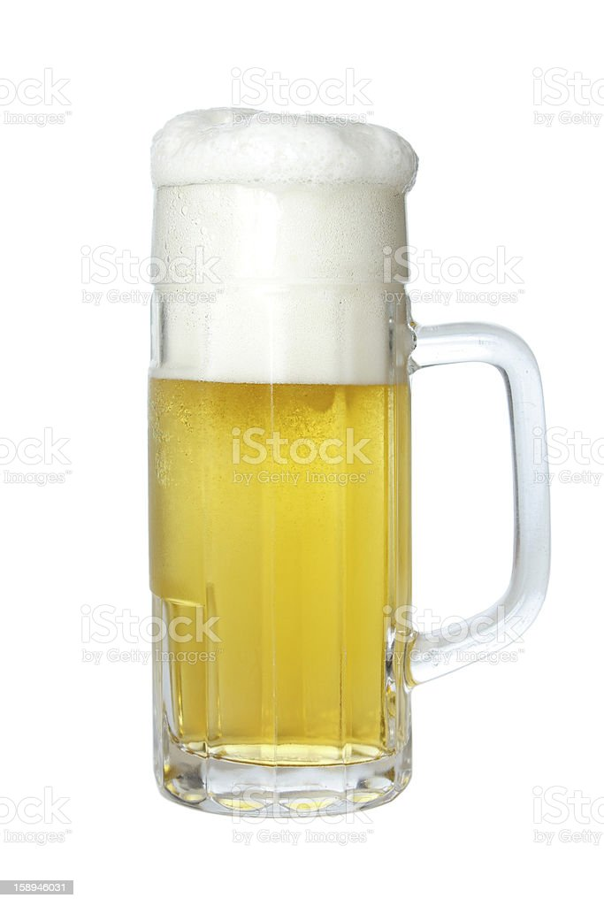 Foaming beer royalty-free stock photo