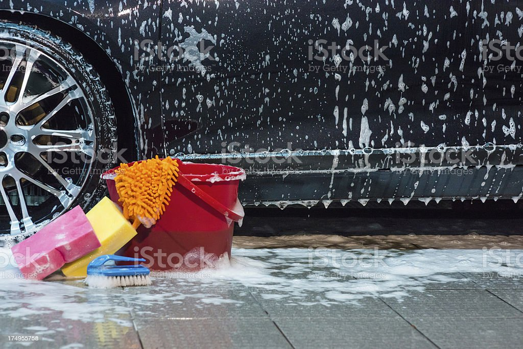 Foamy car royalty-free stock photo