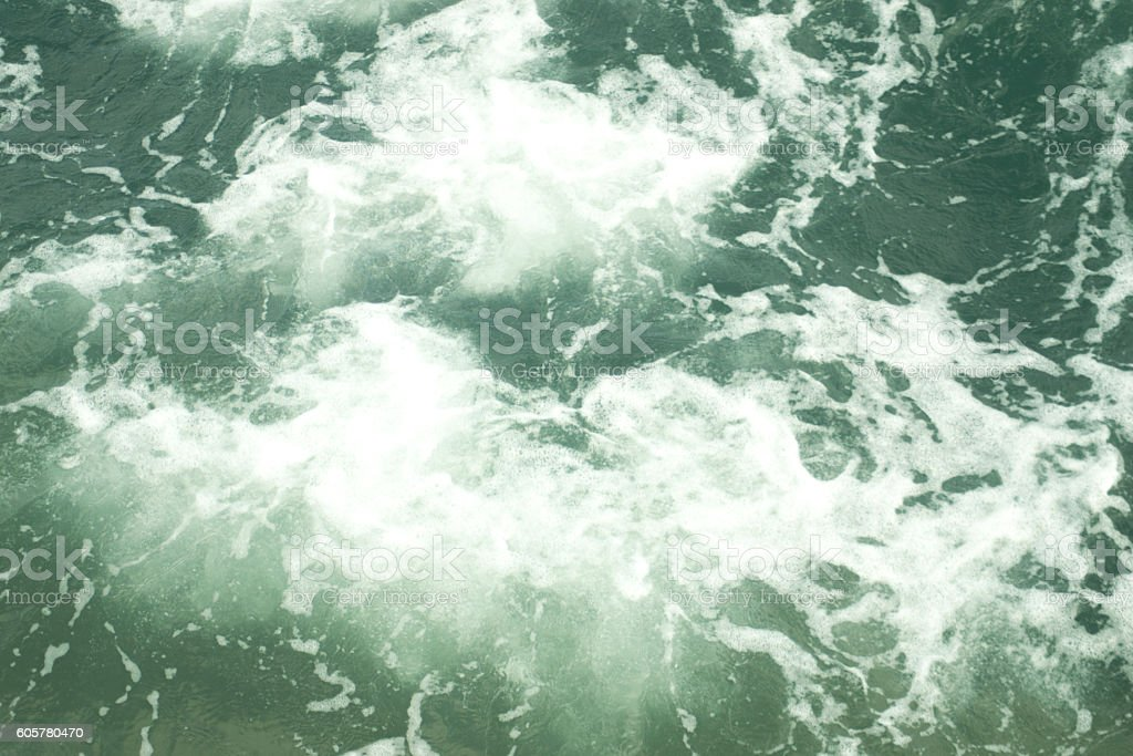 Foamy ocean surface stock photo