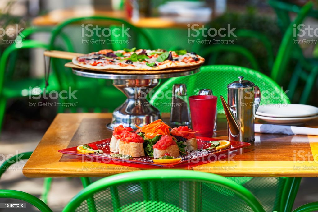 Focaccia and Pizza stock photo