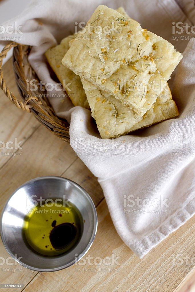 Focaccia Bread royalty-free stock photo