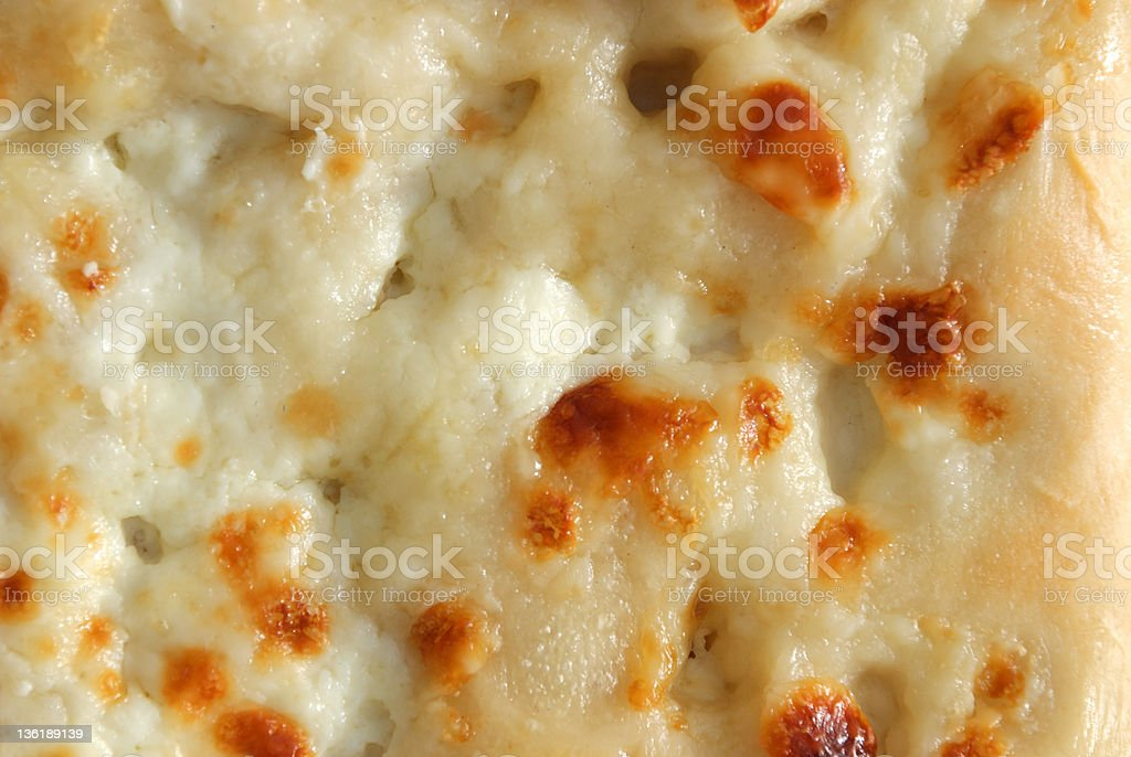 focaccia with cheese stock photo