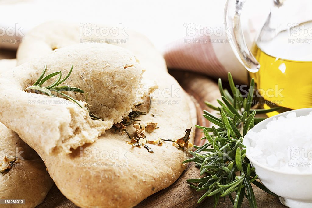 foccacia bread rosemary and salt royalty-free stock photo