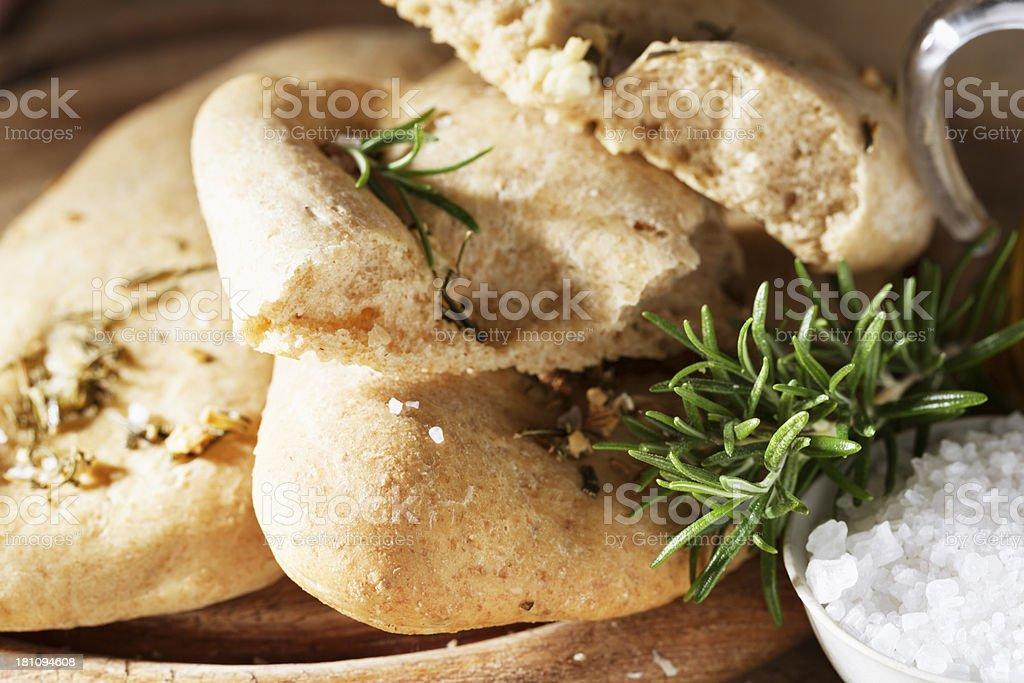 foccacia bread rosemary and salt royalty-free stock photo