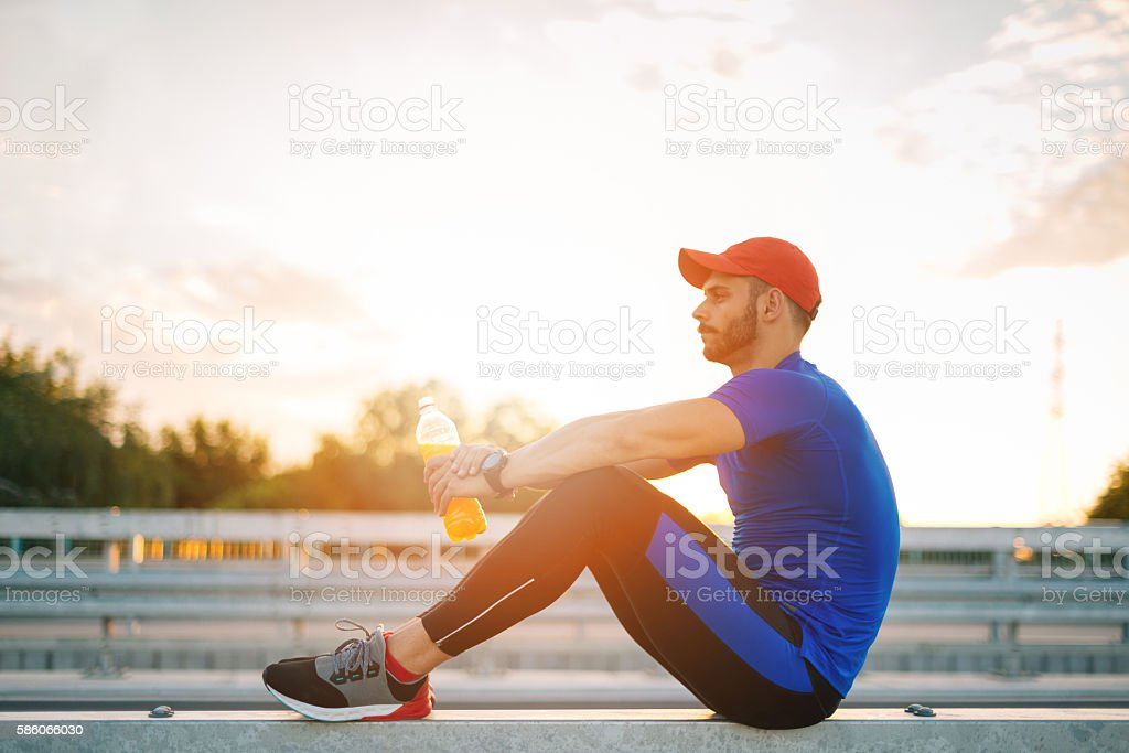 Focus and mental strength is important in professional sport stock photo