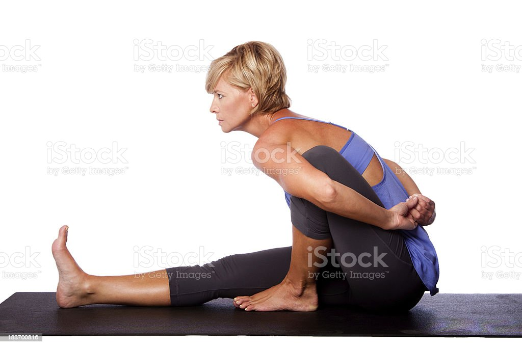 Focus concentration in yoga stock photo