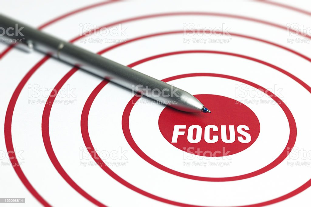 Focus Concept royalty-free stock photo
