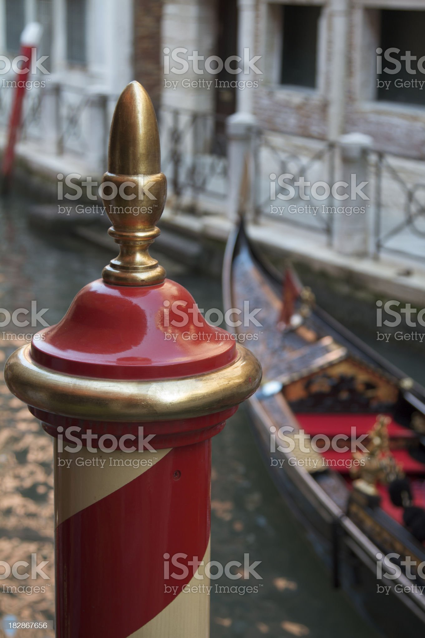 Focus of a traditional post in Venice, Italy royalty-free stock photo
