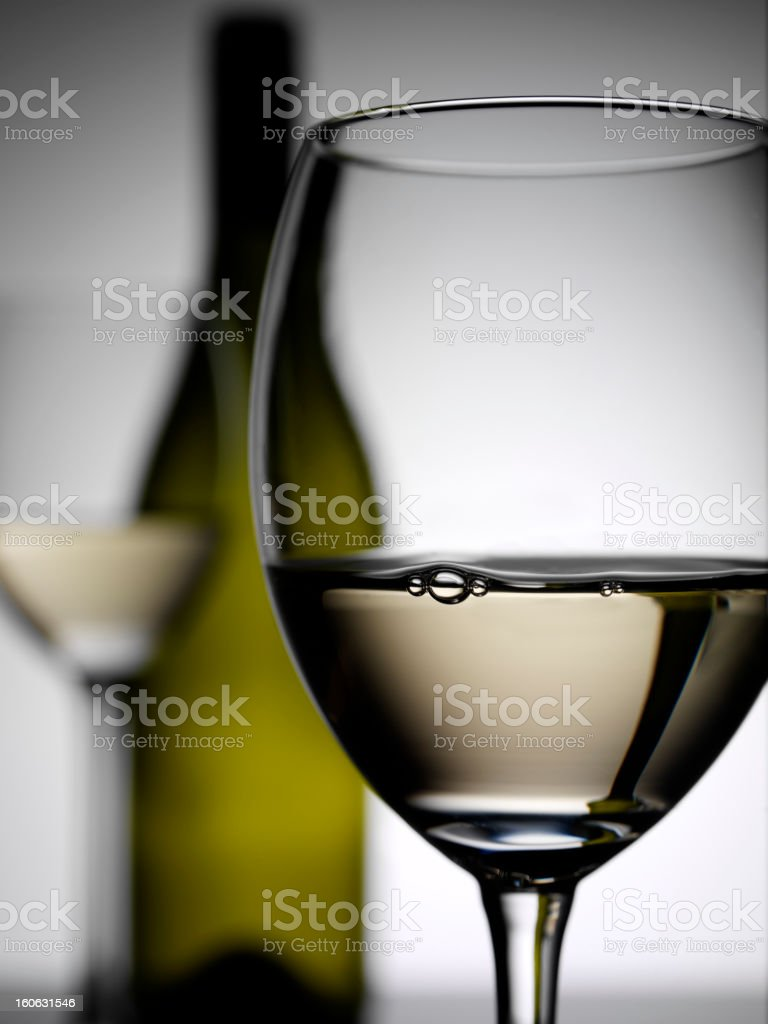 Focus on a Wine Glass royalty-free stock photo