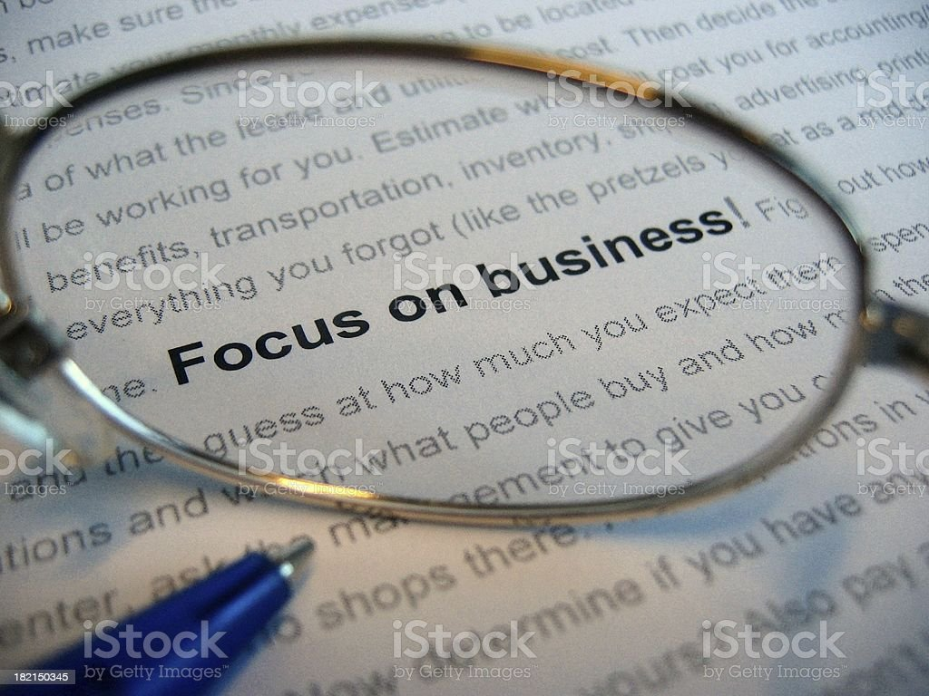 Focus on business royalty-free stock photo