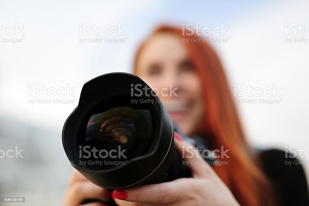 focus on camera royalty-free stock photo