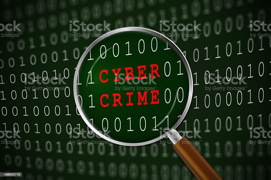 Focus on Cyber Crime stock photo