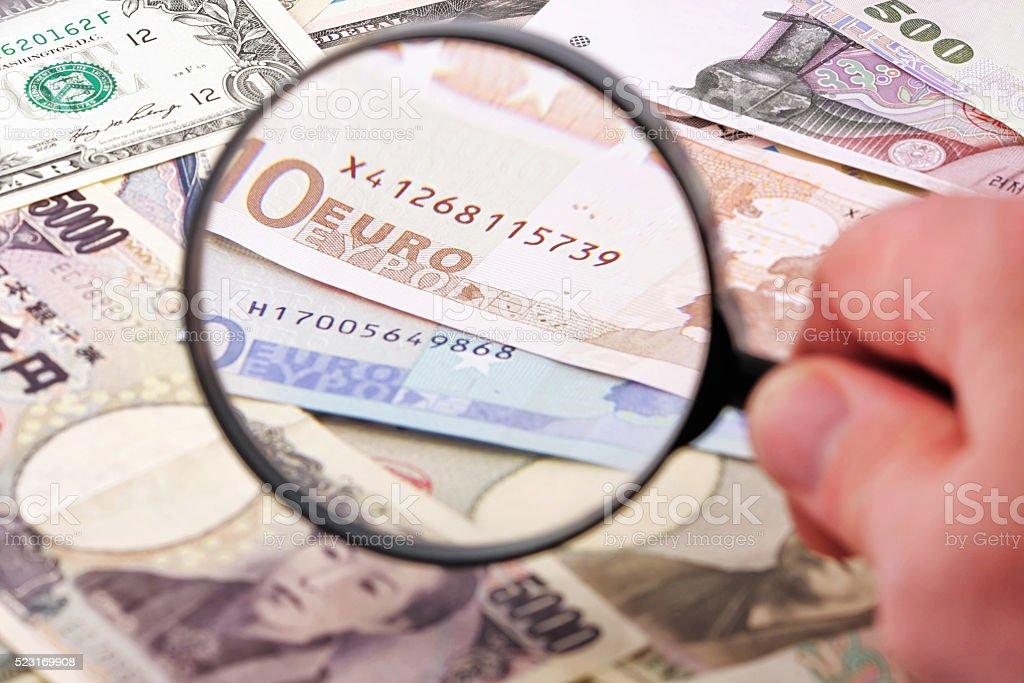 Focus on Euro stock photo