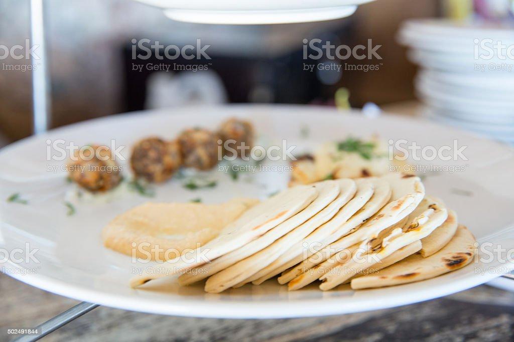 Focus on flour tortilla stock photo