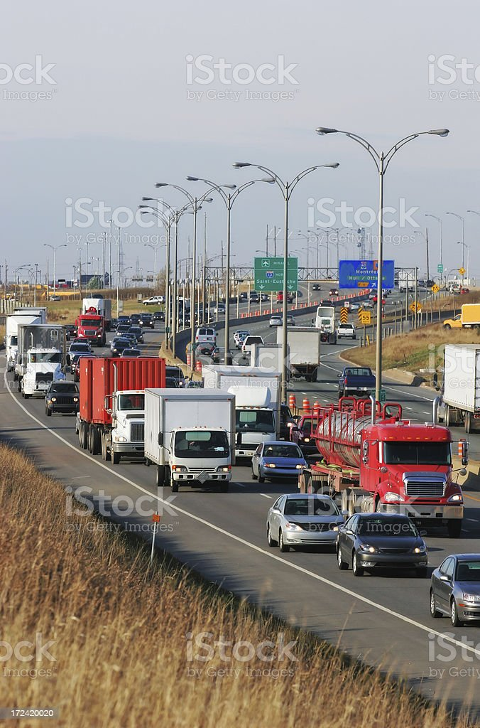 Focus on Highway Traffic royalty-free stock photo