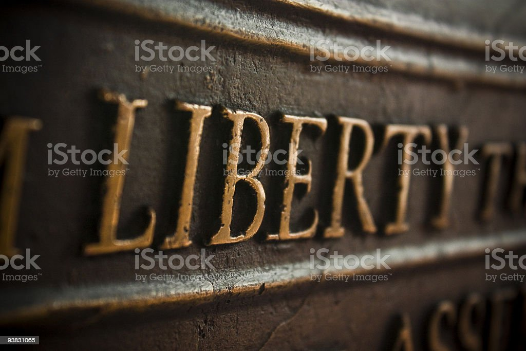 Focus on Liberty stock photo