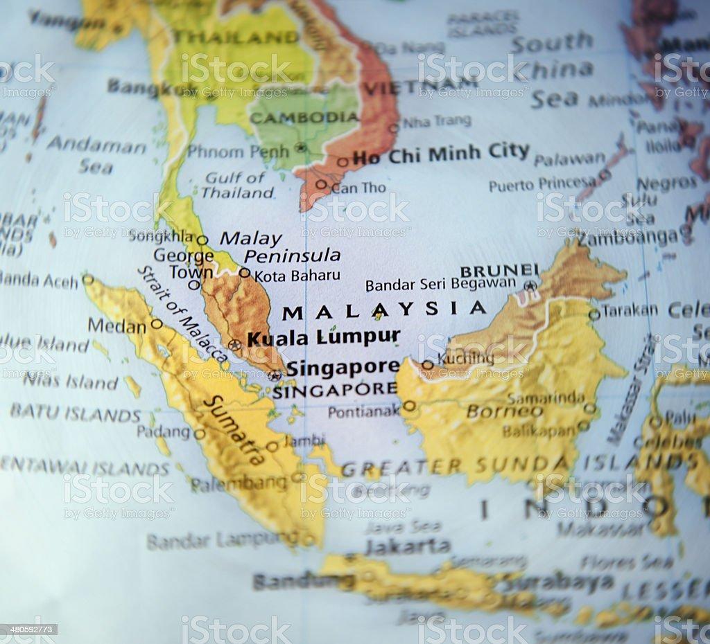 Focus on Malaysia stock photo