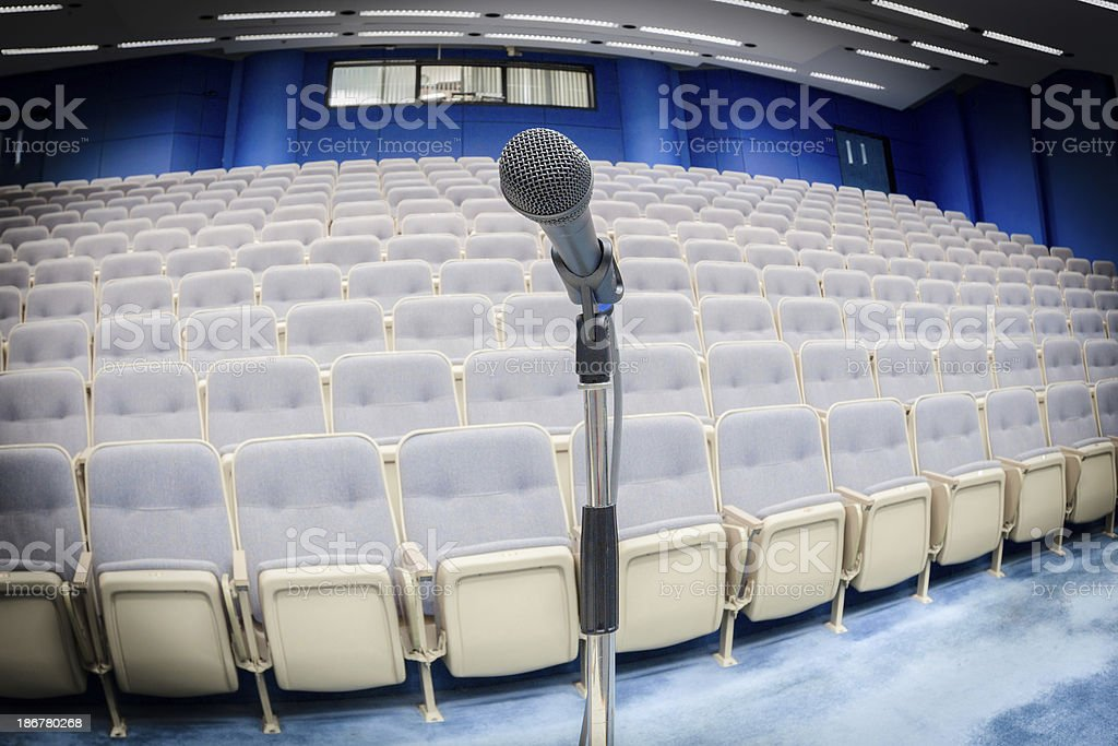 Focus on Microphone royalty-free stock photo