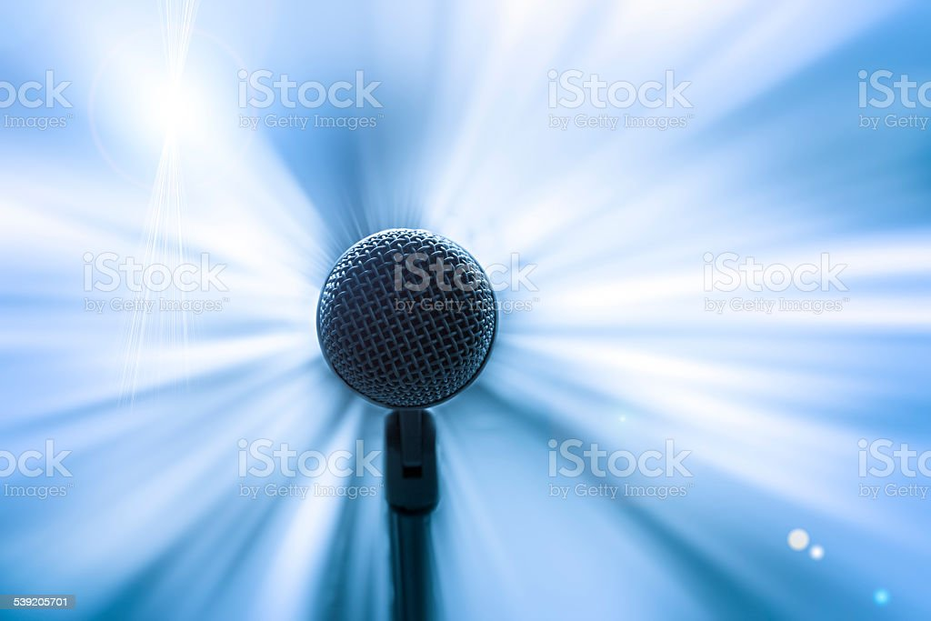 Focus on Microphone stock photo
