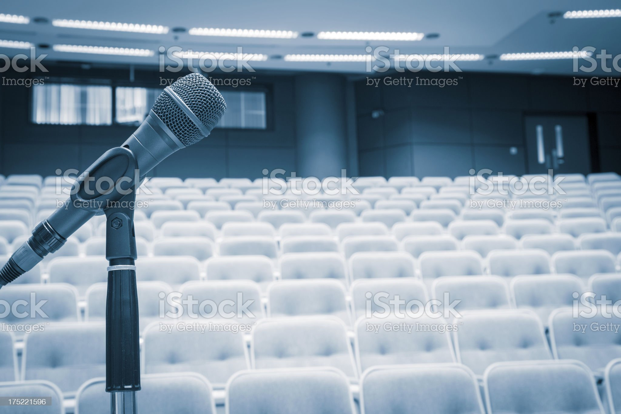 Focus on Microphone! Ready to give a Speech! royalty-free stock photo