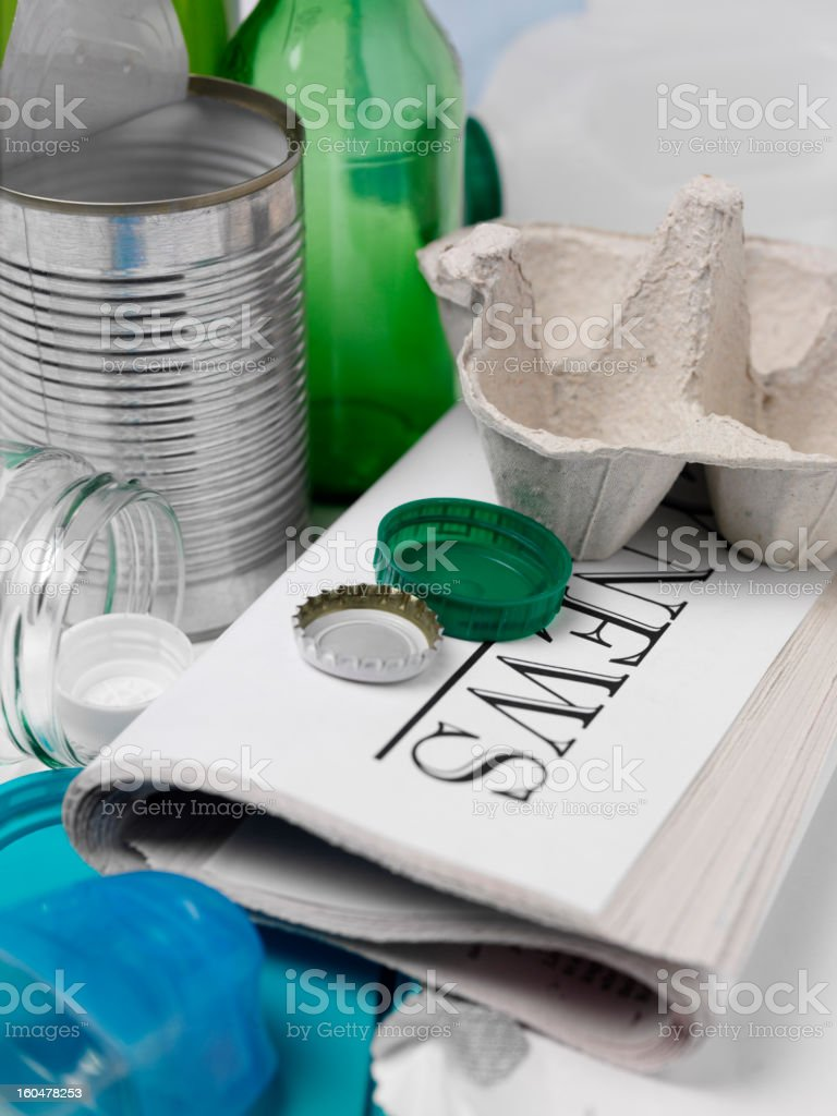 Focus on Recycling royalty-free stock photo