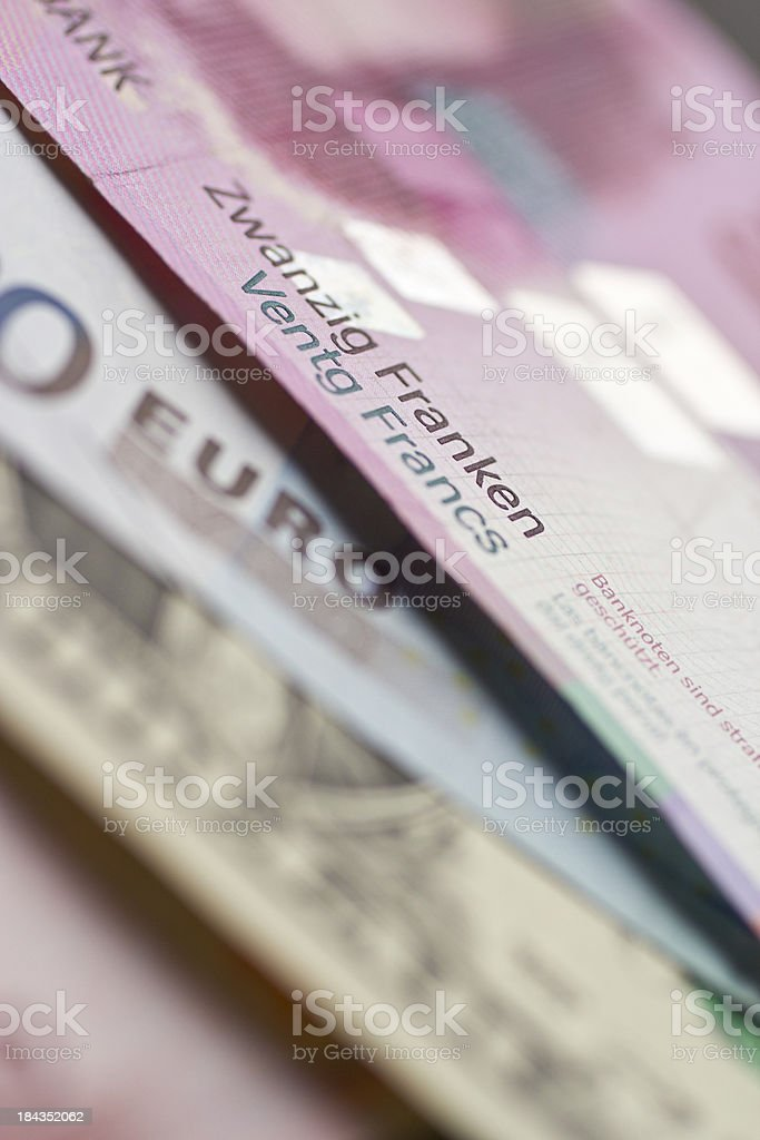 Focus on Swiss Franc royalty-free stock photo