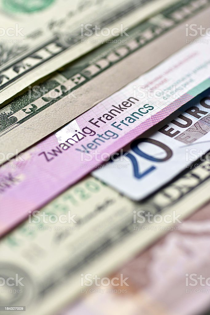 Focus on swiss francs royalty-free stock photo