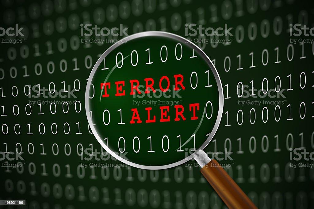 Focus on Terror Alert stock photo