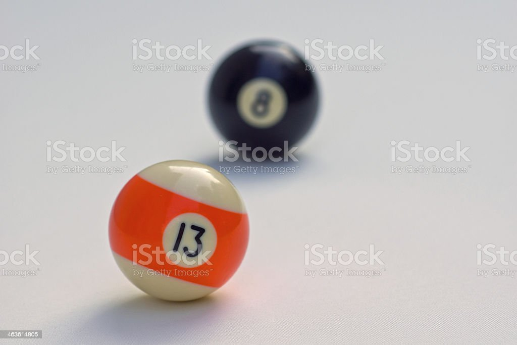 Focus on the 13-ball royalty-free stock photo