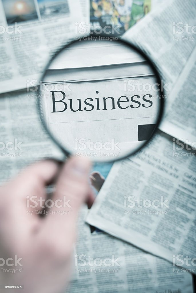 focus on the business royalty-free stock photo