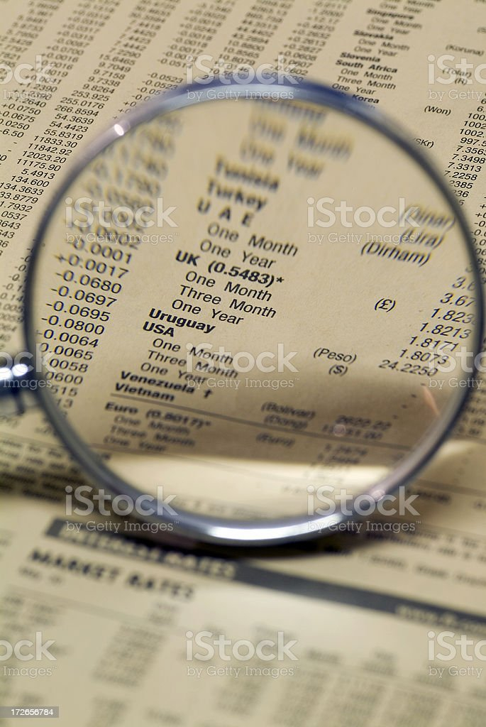 Focus on the Dollar royalty-free stock photo