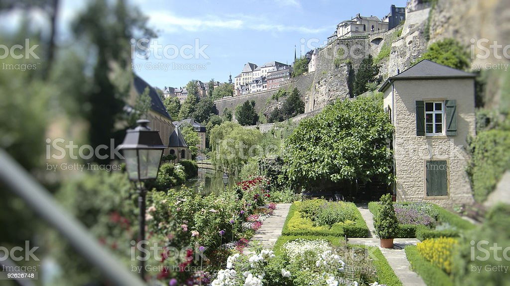 Focus on the old city of Luxembourg stock photo