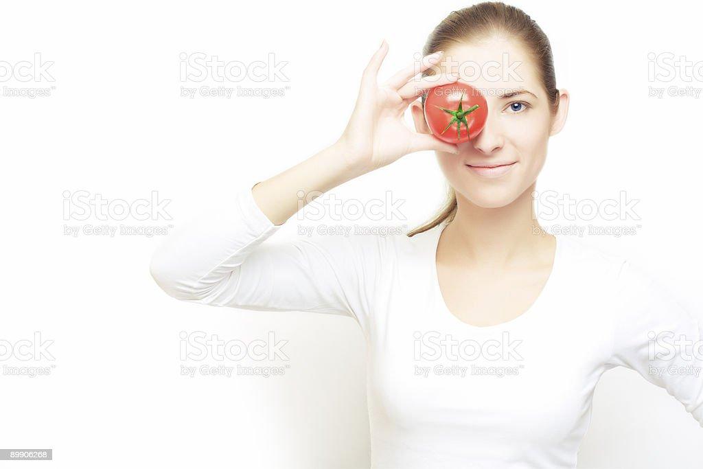 focus on tomato royalty-free stock photo